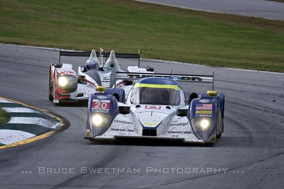 The #20 Dyson Lola eventually retired with electrical problems while the #6 Muscle Milk HPD-ARX-03a finished third in class and secured the P1 class championship.