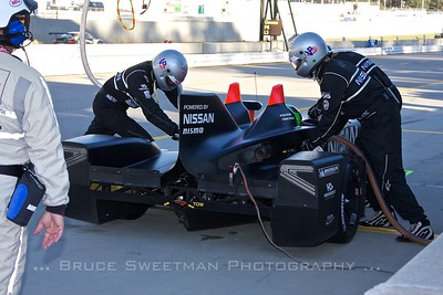The DeltaWing comes in for fuel...