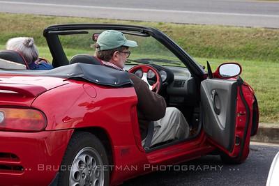 Ross Parker Simons pilots the museum's 1991 Honda Beat.