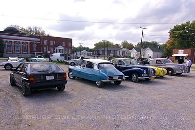 Lancia, Citroën, BMW, Burton, and Hotchkiss-Gregoire are not the typical visitors to downtown Mt. Pleasant.