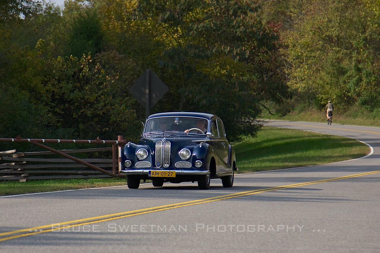 1962 BMW 3200S on the Natchez Trace Parkway.
