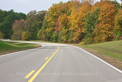 The Natchez Trace Parkway runs 444 miles from Nashville, TN to Natchez, MS.