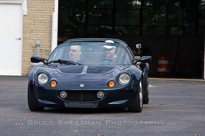 Ramzi Gillespie of Dallas, TX and Brett Melancon of Knoxville, TN pilot the museum's Lotus Elise.