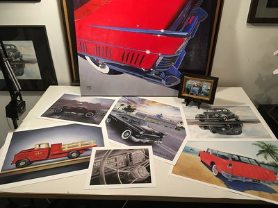 Giclee prints available of vintage automobile art