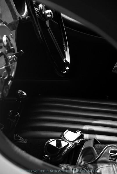 1947 Morgan F Super 3 wheel roadster interior detail