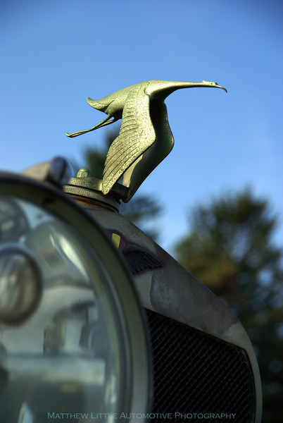 A very original 1922 Hispano-Suiza H6 Touring mascot detail