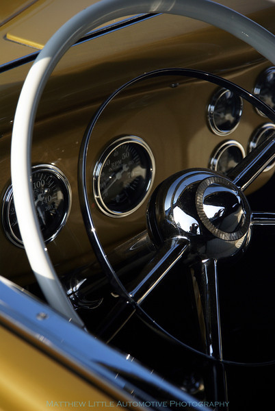 1934 Ford Golden Nugget Coupe interior detail