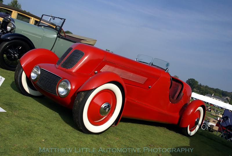 "1934 Ford Model 40 Speedster<br /> This speedster is the second one E.T. ""Bob"" Gregorie designed for Edsel Ford"