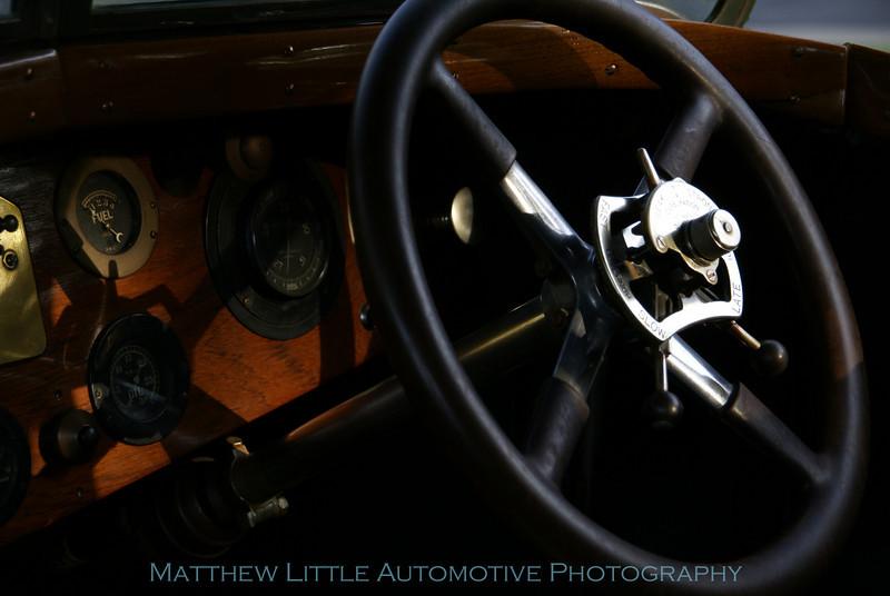 1923 Rolls-Royce Silver Ghost tourer interior detail