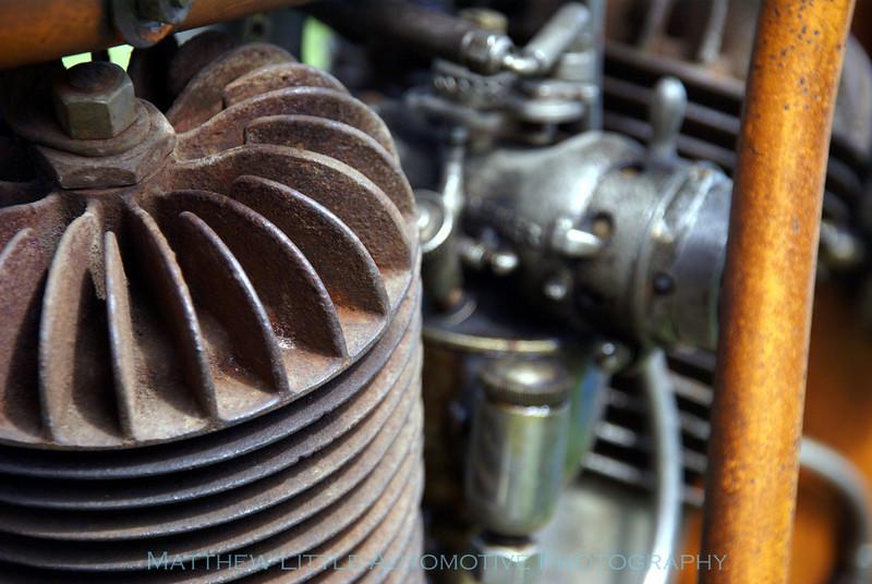 1913 Flying Merkel motorcycle engine detail