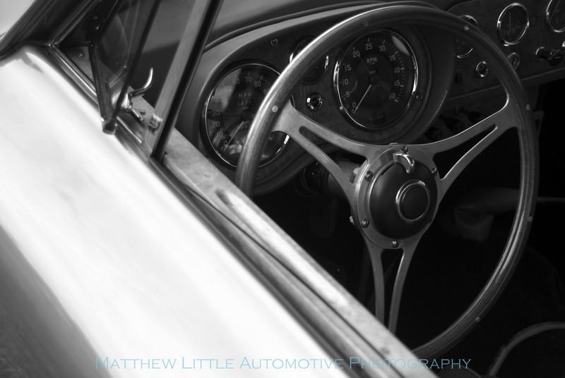 1958 AC Aceca coupe interior detail
