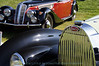 1938 Bugatti Type 57C with 1938 BMW 327 in the background