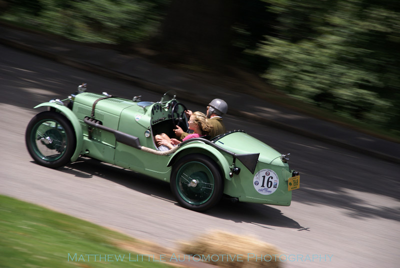 1932 MGJ2 administering a big helping of adrenalin to a lucky passenger during the charity rides.