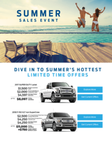 Ford Summer Sales Event Campaign