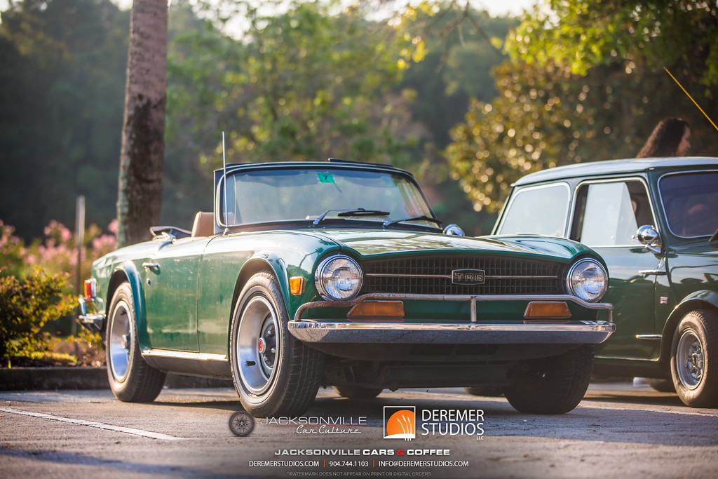 August 2019 Jacksonville Cars and Coffee - The Avenues Mall - Triumph TR6