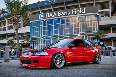 2019 Jax Cars and Coffee at TIAA Field 005 POSED - Deremer Studios LLC