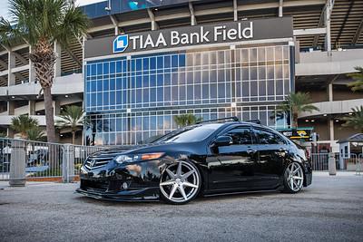 2019 Jax Cars and Coffee at TIAA Field 003 POSED - Deremer Studios LLC