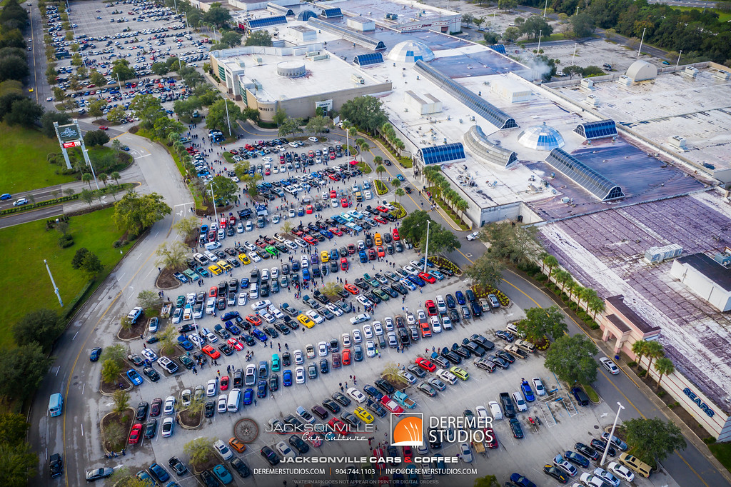 November 2019 Cars and Coffee - Aerial Drone Photo