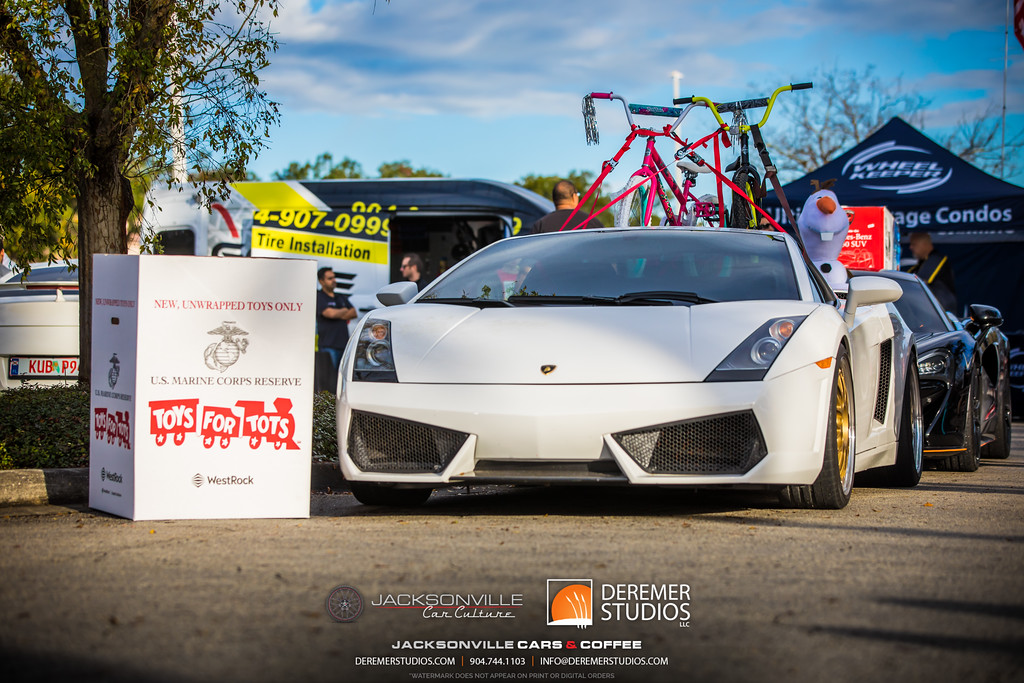 December 2019 Jacksonville Car Culture - Cars and Coffee at the Avenues - Toys for Tots and a Lambo