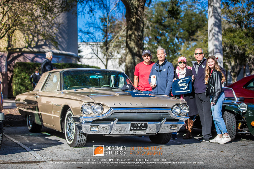 February 2020 Jacksonville Cars and Coffee at the Avenues Mall - 1964 Ford Thunderbird