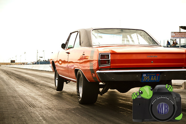 Orange Dodge Dart