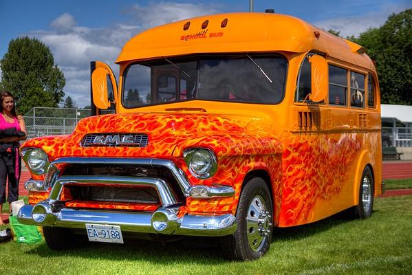 Classic Hot Rod School Bus - Duncan, BC, Canada