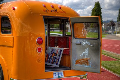 "Classic Hot Rod School Bus - Duncan, BC, Canada Visit our blog ""I Wanna Drive The Bus!"" for the story behind the photo."