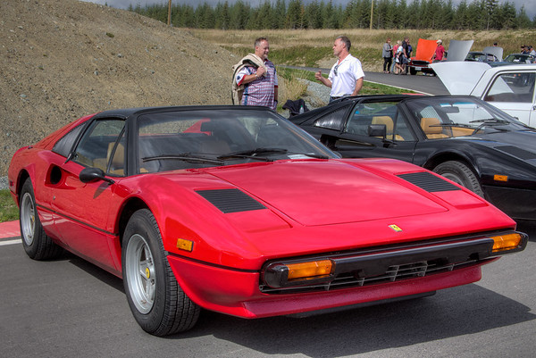 Fast Red Ferrari 308 GTS - Vancouver Island Motorsport Circuit - Cowichan Valley, Vancouver Island, British Columbia, Canada