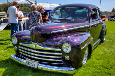 Classic Purple Ford Hot Rod - Beverly Corners Show and Shine 2015 - Duncan, Vancouver Island, British Columbia, Canada