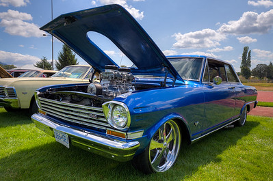 """Custom Chevy Nova SS - Beverly Corners Show and Shine 2015 - Duncan, Vancouver Island, British Columbia, Canada  Visit our blog """"One Beautiful Nova SS"""" for the story behind the photo."""