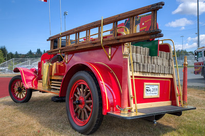 Fire Truck - Beverly Corners Show and Shine 2015 - Duncan, Vancouver Island, British Columbia, Canada