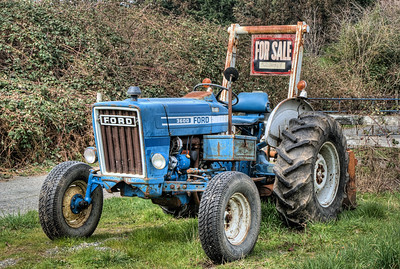 """Tractor - Victoria BC Canada Please visit our blog """"A Barrel Of Rum And A Tractor"""" for the story behind this photo."""