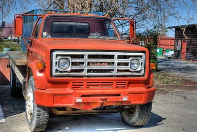 """GMC Truck - Duncan BC Canada Please visit our blog """"Orange You Glad To See Me?"""" for the story behind the photo."""