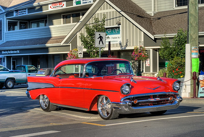 "'57 Chevy Retro-Mod - Langford, BC, Canada Visit our blog ""Cruisin' To The Drive-In"" for the story behind the photo."