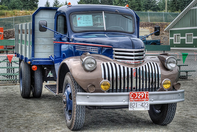 """1946 Chevrolet 2-Ton - Cowichan Valley, BC, Canada Visit our blog """"Hit The Road Truckin'!"""" for the story behind the photo."""