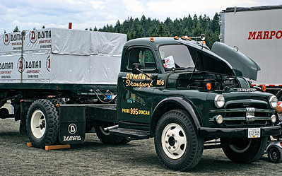 """Dodge Doman's Transport - Cowichan Valley, BC, Canada Visit our blog """"Trucks & Tractors"""" for the story behind the photo."""