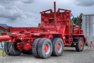 "Hayes HDX-H07 Logging Truck - Cowichan Valley, BC, Canada Please visit our blog ""Big Red Log Hauler"" for the story behind the photo."