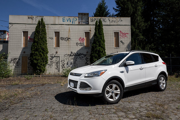 2014 Ford Escape at Derelict Industrial Site - Duncan, Vancouver Island, British Columbia, Canada