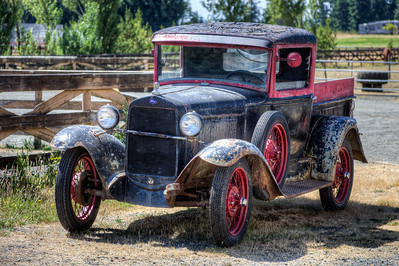Antique Ford Pickup Truck - Vancouver Island, British Columbia, Canada