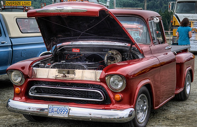"""Chevrolet Pickup - Cowichan Valley, BC, Canada Visit our blog """"Candy Apple Red"""" for the story behind the photo."""
