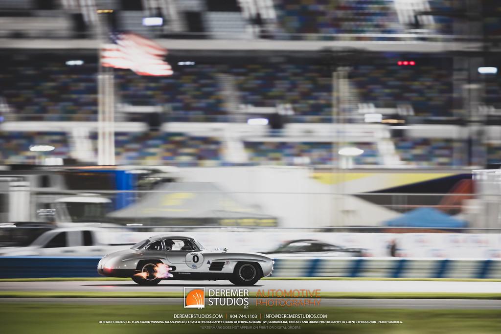 2019 HSR Classic 24 by IMSA - Daytona - Mercedes 300SL Gullwing Belching Fire