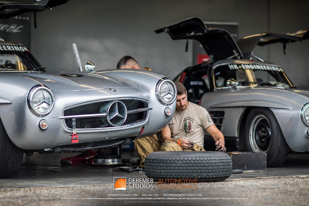 2019 HSR Classic 24 by IMSA - Daytona - Mercedes 300SL Gullwing in the shop