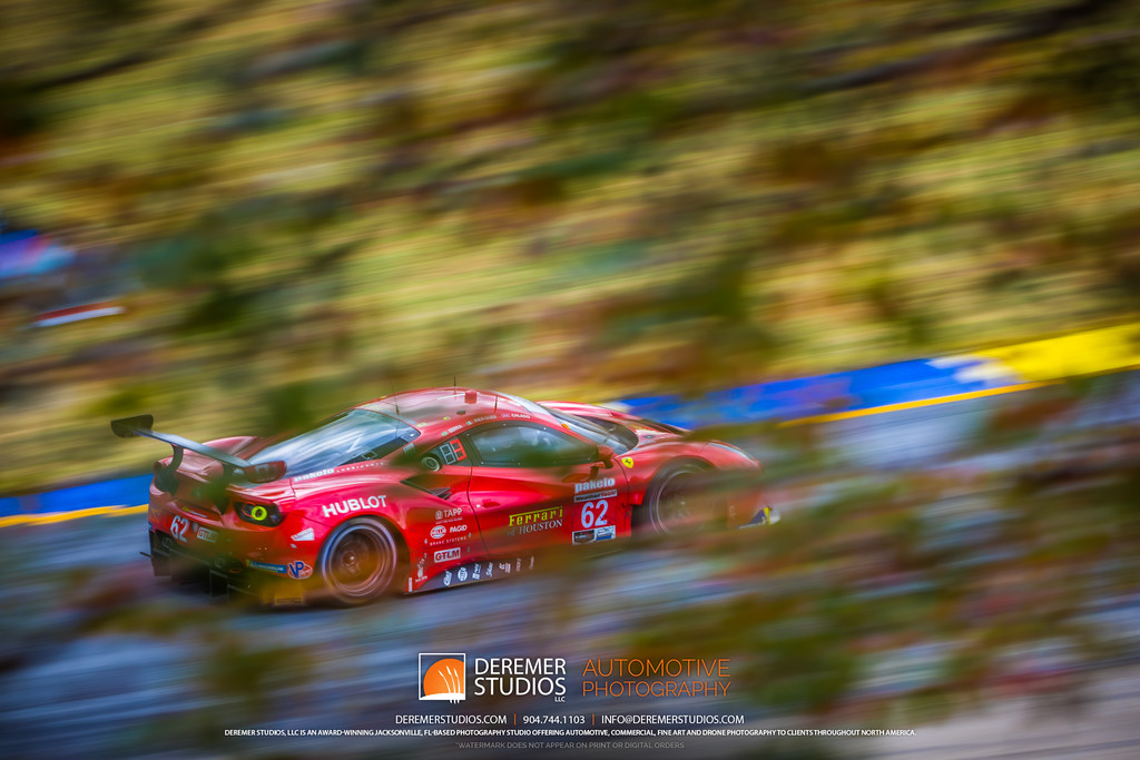 IMSA Road Atlanta - Motul Petit Le Mans - Ferrari in turn 5