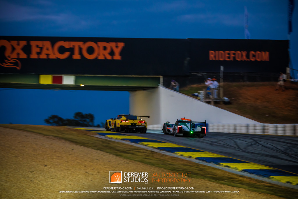 IMSA Road Atlanta - Motul Petit Le Mans - twilight under the bridge