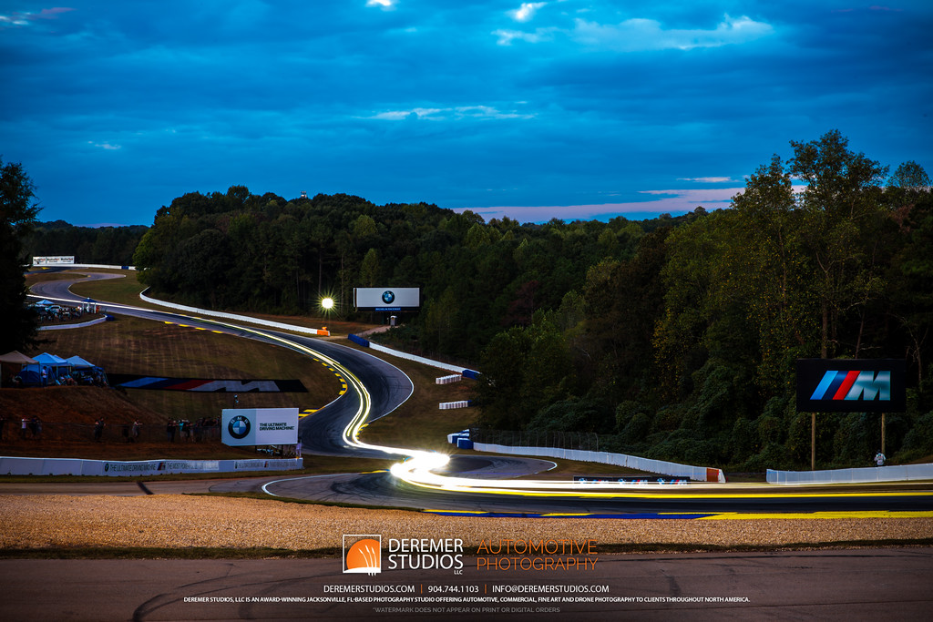 IMSA Road Atlanta - Motul Petit Le Mans - light trails at the esses