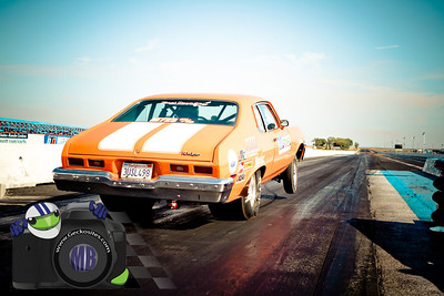Orange Nova with white stripes
