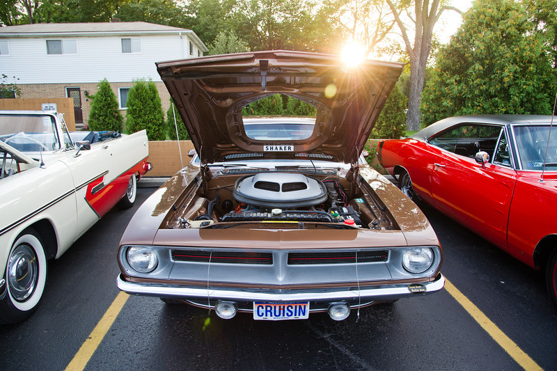 Woodward Dream Cruise<br /> The night of August 14, 2012<br /> Photos by Chris Amos<br /> <br /> Brown 1970 Plymouth Barracuda 41,000 miles<br /> Owner: Don Gilbert