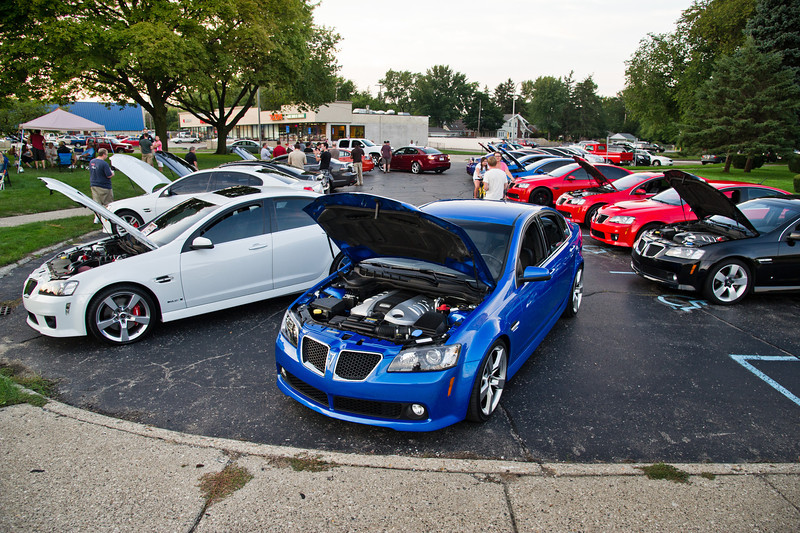 Woodward Dream Cruise<br /> The night of August 14, 2012<br /> Photos by Chris Amos<br /> <br /> Blue Pontiac G8 2009<br /> Owner: Ken Zoromski<br /> <br /> White 2009 Pontiac G8 GXP<br /> Owner: Jerry Waddell