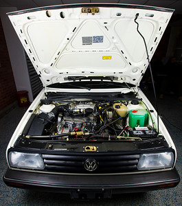 All-Original 1989 VW Jetta Coupe Engine