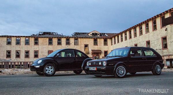 FRANKENBUILT VW MKII GTI TDI and Lifted New Beetle TDI